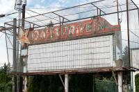 old drive in theater sign