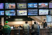 TV monitors at Portland Meadows