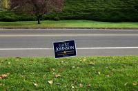 campaign sign for Gary Johnson