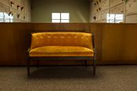 golden couch inside Lincoln Memorial Mausoleum