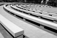 curved benches for ceremonies Willamette National Cemetery
