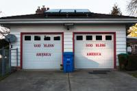 garage doors with god bless america