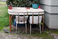 kitchen table and chairs outside