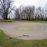 Sand trap Riverside golf course