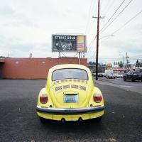 VW Bug behind Chinese Village SE Stark and 82nd Ave
