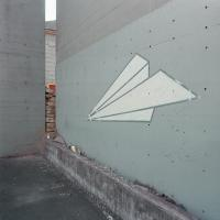 Paper Airplane Wall Art SE Stark near 12th ave