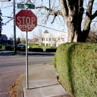 Stop sign SE Yamhill and 60th Ave